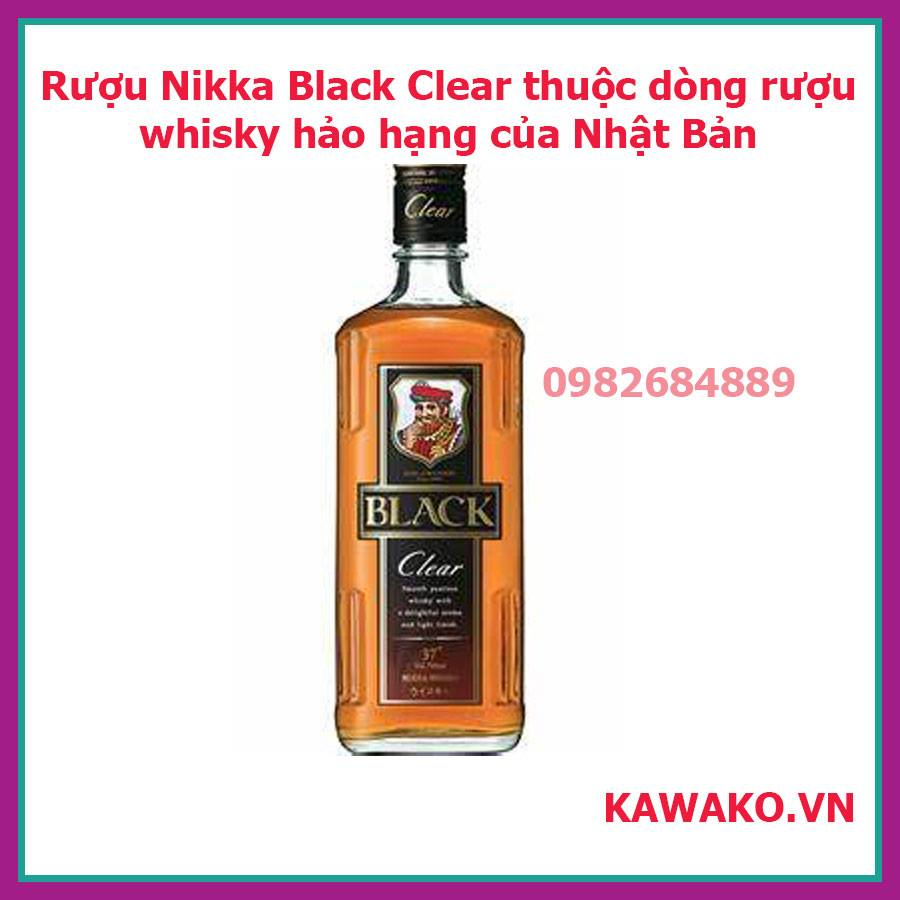 Rượu Whisky Black Nikka Clear